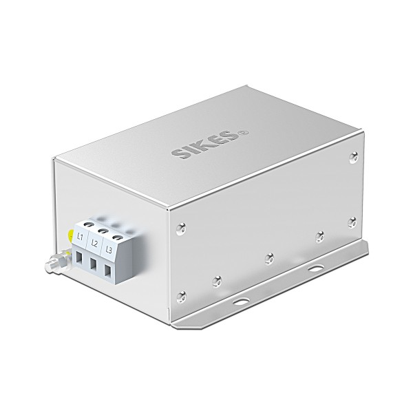 EMC/EMI Filter 3 phase Input, Rated current 16A [Vertical]